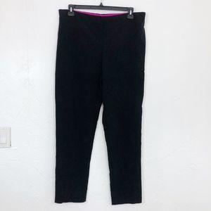 Gretchen Scott Solid Black Slim Fit Pull On Pants